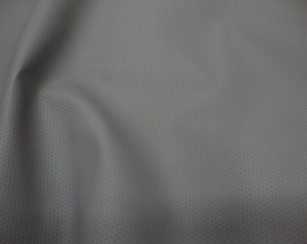 Grey Perforated commercial marine grade upholstery vinyls Faux Leather fabric per yard