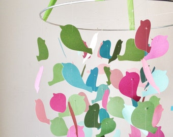 The Surprise Party Bird Mobile / / /  Nursery Decor, Photo Prop, Baby Shower Gift, Crib Mobile.