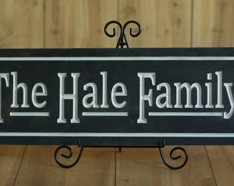 Handmade Wedding Gifts, Wooden Family Sign, Vintage Name Plaque