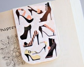 Magnetic Bookmark, Laminated, Style, Fashion, Shoes, Heels, Unique, Ready To Ship!