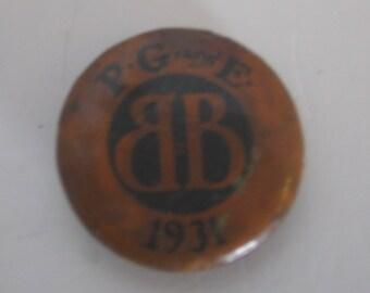 PG&E Button/ Pin 1931
