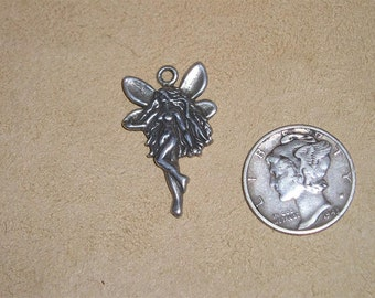 Sterling Silver Charm Or Pendant Fairy Brownie Sprite Imp Vintage 1980's Signed Jewelry K19