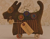 Primitive Puppy, Friends, Fall Decor, Fabric, Stuffed, Puppy