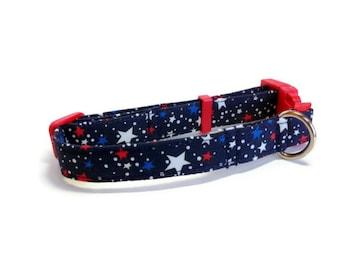 Patriotic Stars Dog Collar size Small