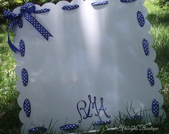 Large Personalized Magnet Board, Personalized Dry Erase Board, Personalized Magenet Board,Monogrammed Magnet Board, Many Colors Available