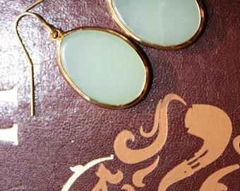 Drop Earrings - Mint Green