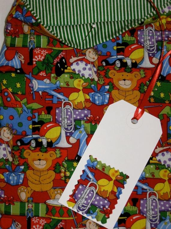 Sack Of Toys For Christmas : Fabric gift bag santa s toy sack deluxe christmas