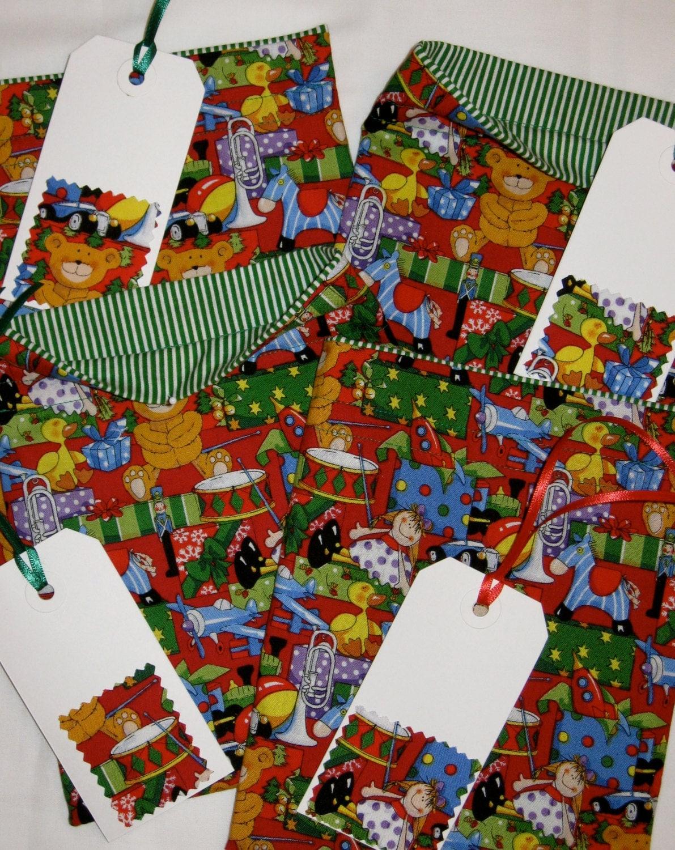Sack Of Toys For Christmas : Santa s toy sack deluxe christmas fabric gift bag set of