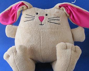 Bertie Bunny - a cuddly softie pattern (PDF, digital pattern, Easter bunny)