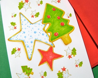 Sugar Cookie Christmas Card - Christmas Cookie Recipe Card