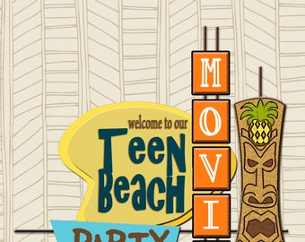 NEW INSTANT DOWNLOAD The Teen Beach Movie Party Printable Party Collection- Printable Party 8x10 Sign