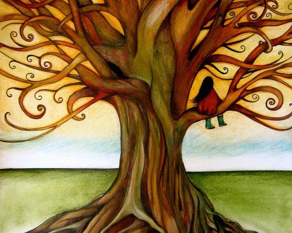 the infinite tree art print landscape orientation
