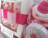 Sweet Sampler Baby Shower Gift Basket for Baby Girl