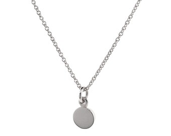 Silver Small 'Eclipse' Pendant, sterling silver necklace