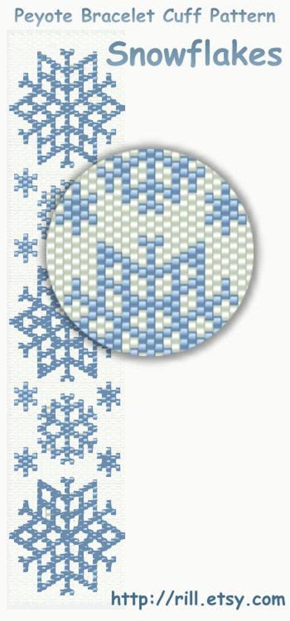 Снежинки - Схема браслета
