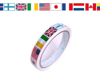 National Flag -- Translucent Narrow Sticker Tape -  27 yards