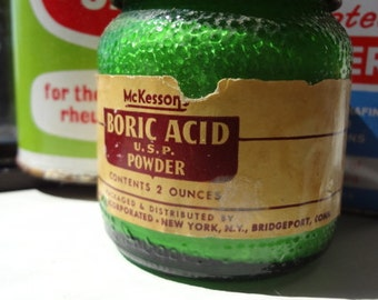 Vintage Boric Acid Powder Bottle