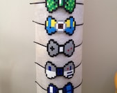 8-bit Minecraft Creeper, Minion, R2D2, Game Boy, Doctor Who Tardis Character Pixel Art Bow Headbands, Barettes or Bow Tie Pins