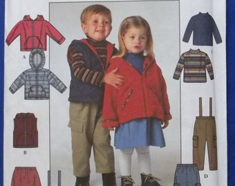 Toddler's Jacket or Vest, Pants or Skirt and Knit Top