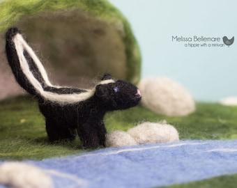 Waldorf Inspired Needle Felted Woodland Skunk
