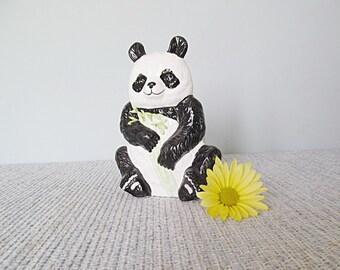 Panda Bear Napkin Holder Black and White Happy Zoo Animal Panda Housewares Home Decor