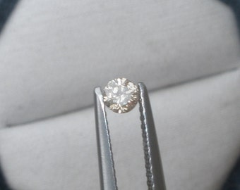 3.5mm Champagne diamond loose round 0.16 carats