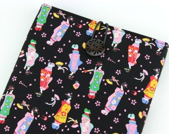 Kobo Touch, Kindle Paperwhite, iPad Mini Sleeve Cover Case, Maiko Black