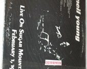"""Vintage Recording LP """"Neil Young Live on Sugar Mountain February 1, 1971"""" - Original"""