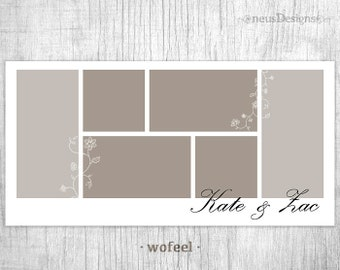 Photo Collage Template, 10x20 Wofeel Storyboard for photographers, 6 pictures