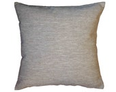 Natural Cushion Cover Pure 100% Linen light Grey Pillow Case Decorative Pillow Rough BasketWeave Rustic Country - Custom Size