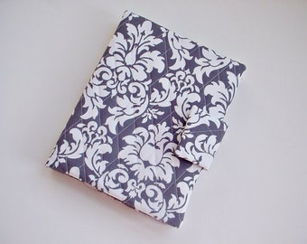 Kindle HD 8.9/10 Cover or iPad/iPad air/iPad Pro 9.7 cover or Samsung Tab A 9.7 cover in Dandy Damask Charcoal