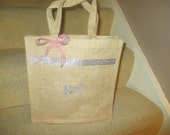 Personalized Jute Bags - Bridesmaids Gifts - Flower Girl Basket - Gift Bags - Favor Bags