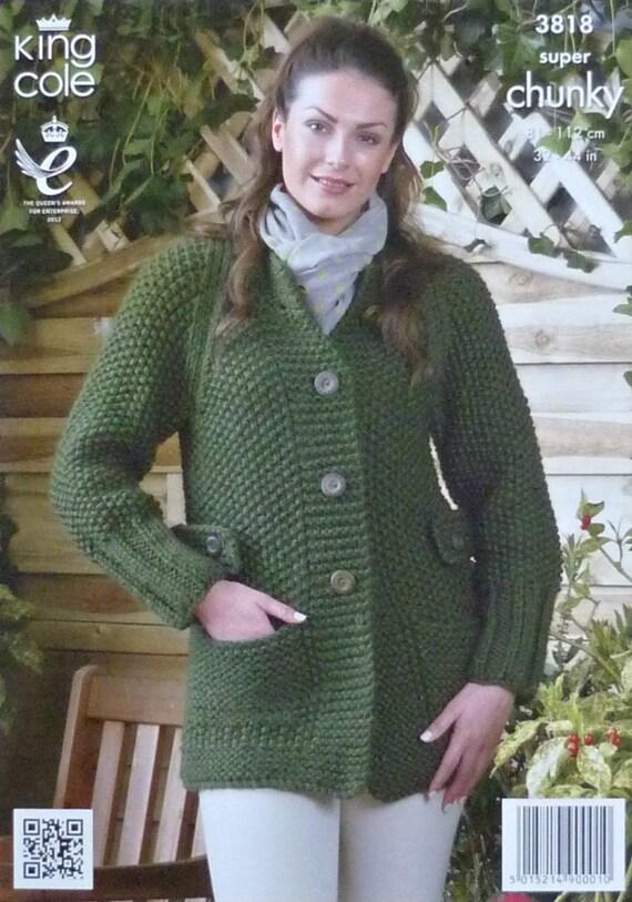Moss Stitch Jumper Knitting Pattern : Womens Knitting Pattern K3818 Ladies Long Sleeve Moss Stitch Jumper Knitting ...