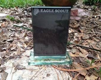 Eagle Scout Glass Picture Frame - Laser Engraved