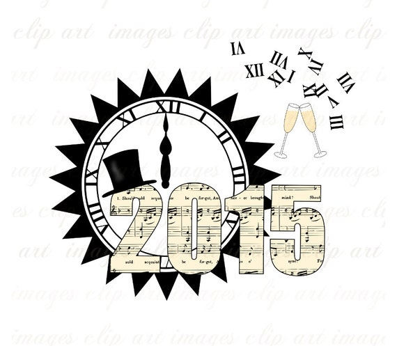 New Years Clip Art, 2015, Royalty Free, Champagne Glasses, Graphics ...