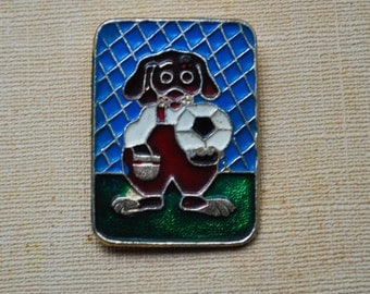 "Vintage Soviet Russian aluminum badge,pin. ""Soviet cartoon"""