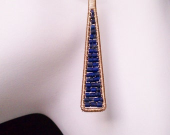 Cobalt Blue Lapis Earrings Cleo Earrings in 14K Gold Fill and Lapis Made to Order