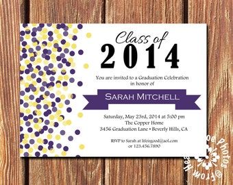 Graduation Party Invitations •Pick your two colors