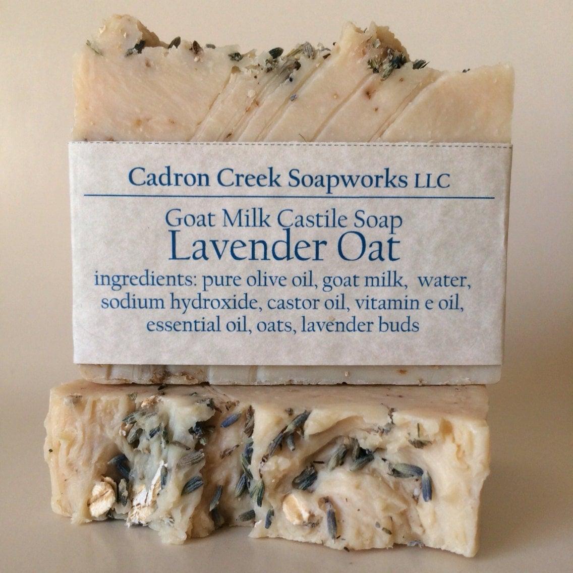 Lavender Oat Goat Milk Castile Soap by CadronCreekSoapworks
