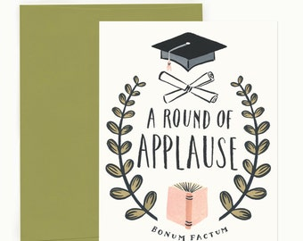 Round of Applause Graduation Greeting Card