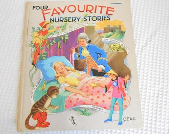 Deans Childrens Book Favourite Nursery Stories Vintage Book  Beautifully Illustrated Hard Back Book