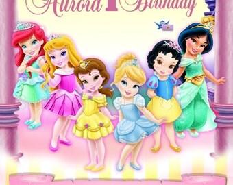 Disney Toddler Princess Invitation - Princess Invitation - Princess Birthday - Aurora, Snow White, Cinderella, Ariel, Belle, Jasmine