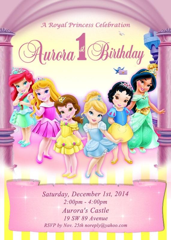 disney princesses invitations
