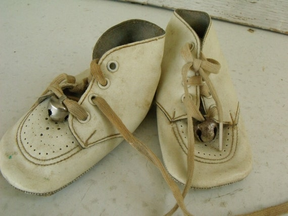 Items Similar Baby Shoes Leather White Bells