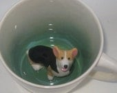 Corgi Coffee Mug, Animal Surprise Mug, Welsh Corgi Dog Cup (Made to Order)