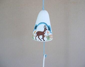 Windbell, ceramic windbell, Southwestern windbell, deer windbell