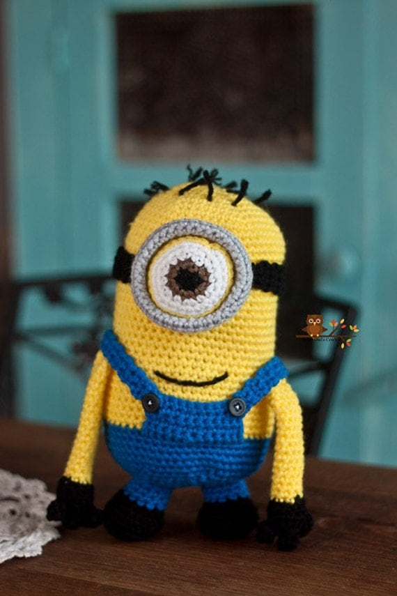 Amigurumi Minion Etsy : Crochet Minion Amigurumi by LionandLambPhotos on Etsy