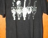 Vintage Early '90s Cat Anus Black T-shirt Size Large
