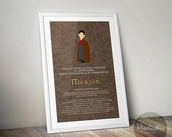 Merlin poster - Choose from 2 characters (Made to order)