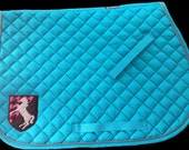 Applique Horse Crest Saddle Pad - TheHoundstoothHorse